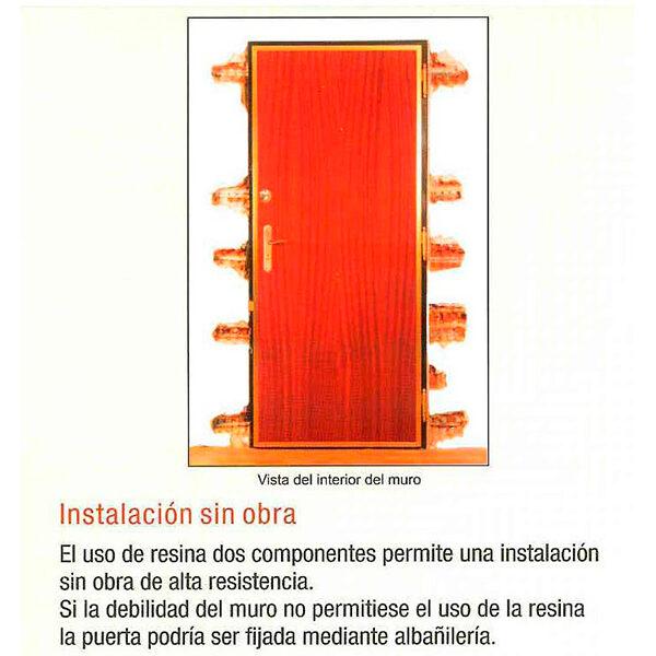 Puerta acorazada KIUSO XXI lisa Roble/Roble Instalada